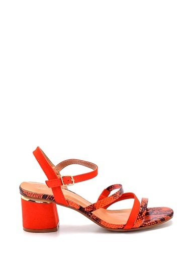 Derimod Kadın Sandalet (Zs3070-4701) Casual Kırmızı